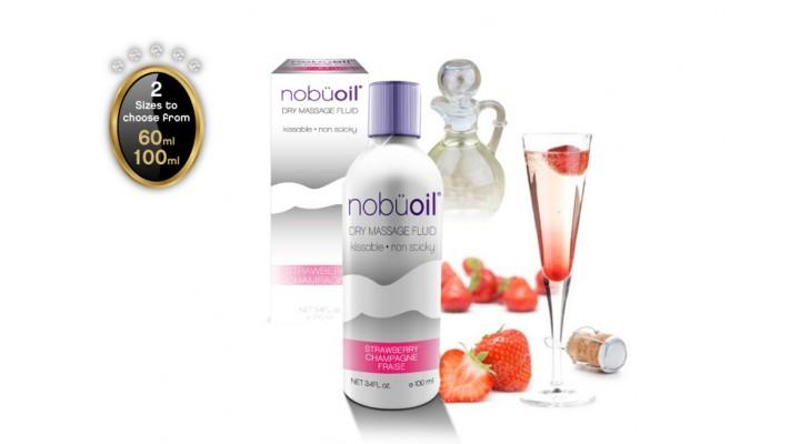 Huile de massage par nobüoil - Champagne & fraise